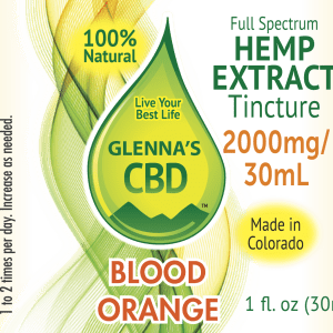 2000mg Tinc Blood Orange 300x300 - Blood Orange Flavored Tincture - 2000mg Full Spectrum