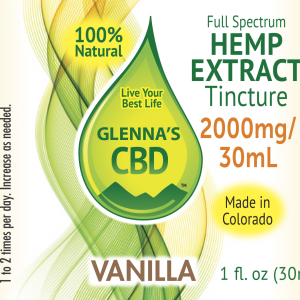 2000mg Tinc Vanilla 300x300 - Vanilla 2000mg Full Spectrum Tincture - 1 fl. oz.