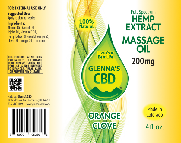 200mg Massage Oil Orange Clove 600x475 - Restorative Orange Clove Massage Oil - 200mg Full Spectrum