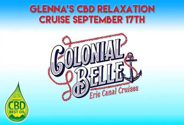 Glennas Cruise 600x408 - Glenna's CBD Relaxation Dinner Cruise: Sept. 17th on the Erie Canal
