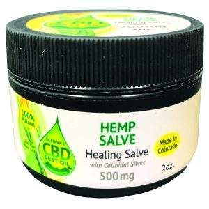 Healing Salve with Colloidal Silver 300x300 - Salve with Colloidal Silver 500mg - Full Spectrum